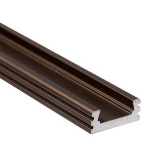BC02 felületi alumínium profil, bronz