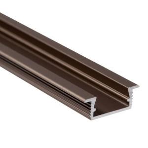 BC03 süllyesztett alumínium profil, bronz