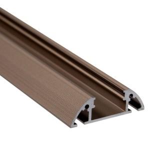 BC04 íves felületi alumínium profil, bronz