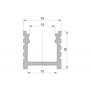 CC10 felületi alumínium profil, fekete