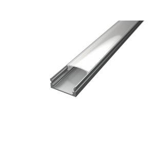 U alakú LED profil SF1S ezüst színű eloxált opál fedővel