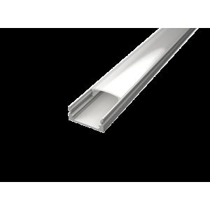 U alakú LED profil SF1W fehér színű eloxált víztiszta fedővel