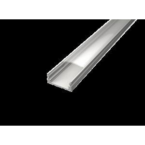 U alakú LED profil SF1W fehér színű eloxált opál fedővel