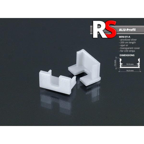 RS mini aluprofil végzáró (Mini-01-A VG) kivágott