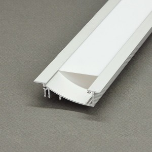 Aluminium profil LED szalaghoz , oldalfalba , lépcsőbe építhető , WALL