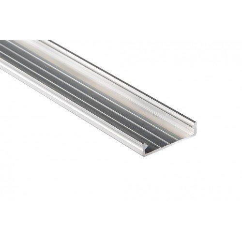 Alumínium U profil LED szalaghoz , víztiszta fedővel ,Solis
