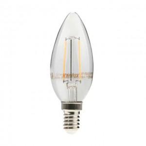 Kanlux Zipi LED lámpa égő, E14 foglalat, gyertya forma, 4 watt, Filament, meleg fehér