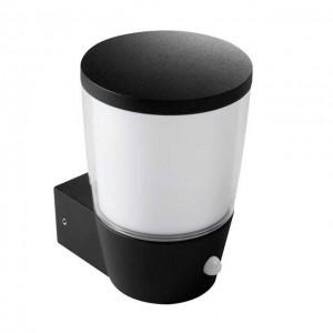 Sorta fekete kerti oldalfali lámpa, mozgásérzékelővel, E27, Ip44