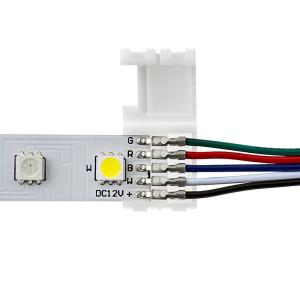 LED szalag forrasztásmentes betáp 5050 RGBW szalaghoz 10 mm