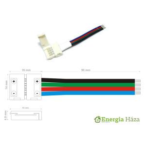 LED szalag forrasztásmentes betáp 5050 RGB szalaghoz