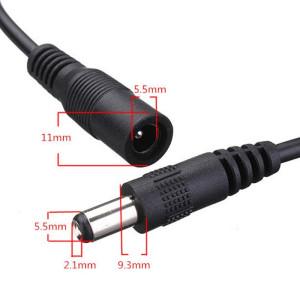 DC csatlakozóval szerelt kábel zsinórkapcsolóval LED szalaghoz