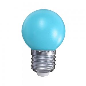 Színes LED lámpa E27 1 Watt Kék