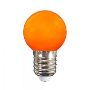 Színes LED lámpa E27 1 Watt Narancs