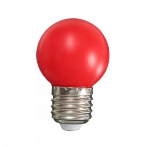 Színes LED lámpa E27 1 Watt Piros