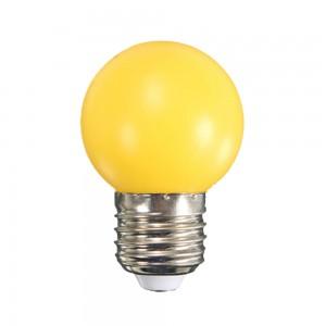 Színes LED lámpa E27 1 Watt Sárga