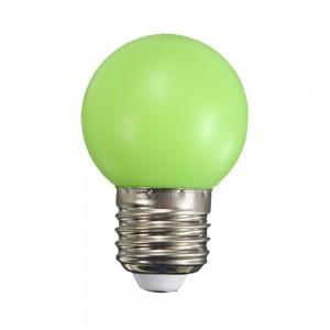Színes LED lámpa E27 1 Watt Zöld