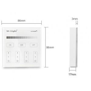 Vezeték nélküli , fali , érintős, vezérlő,  fényerőszabályozós 2,4 GHz