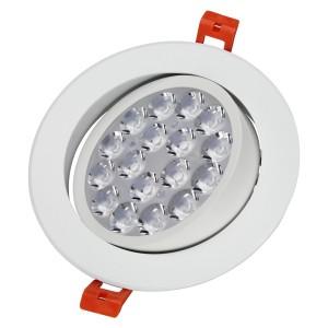 LED panel , dönthető 9W , süllyesztett , kerek , dimmelhető , RGB+CCT állítható fehér színárnyalat ,