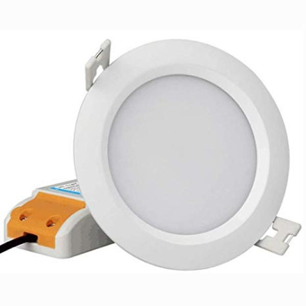 Kültéri színes LED panel , 6W , süllyesztett , kerek , dimmelhető , RGB+CCT állítható fehér színárnyalat