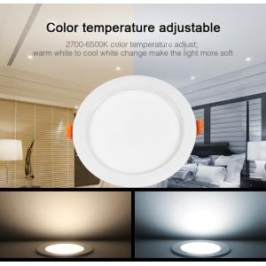 Kültéri színes LED panel, állítható fehér színű, RGB+CCT, 15Watt, IP54, 2700K-6500K, Mi-Light