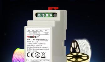 Miboxer 5in1 DIN sínre szerelhető LED szalag vezérlő