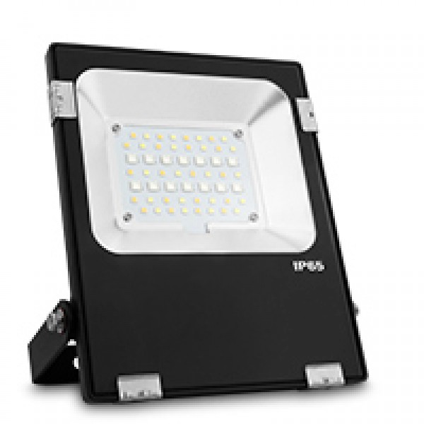 30W RGB+CCT kültéri színes és állítható fehér színű reflektor, díszvilágító lámpatest, IP65