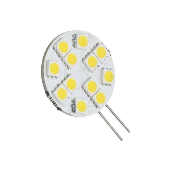 LED lámpa , 12V DC , G4 foglalat , 2 Watt , 120° , meleg fehér KIFUTÓ