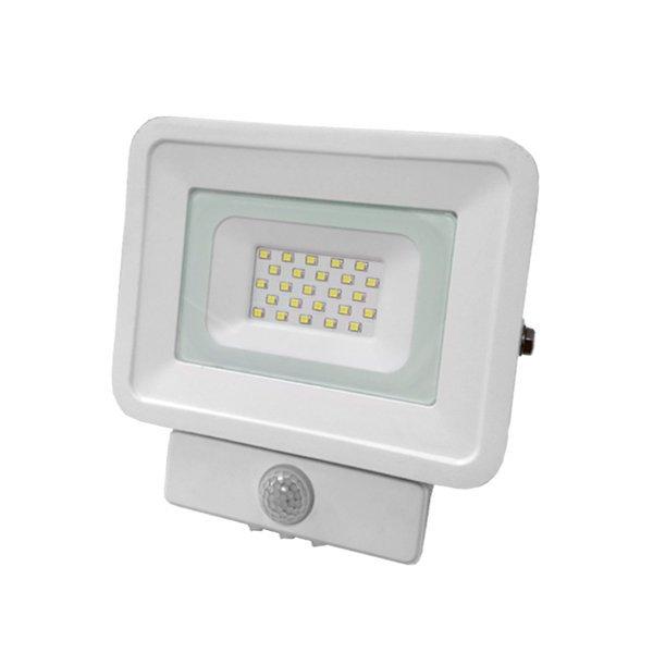 Optonica LED reflektor,  kültéri,  mozgásérzékelős, IP65 védettségű, Classic Line, 20 W, hideg fehér