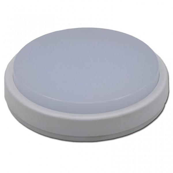 LUNA , LED lámpa  8W , falon kívüli , kerek , meleg fehér IP65 - 2282