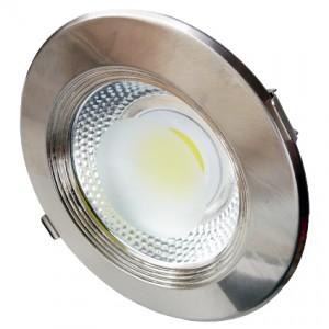 Optonica LED panel   mélysugárzó   30 W   süllyesztett   kerek   hideg fehér   inox keret