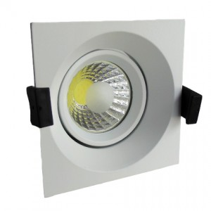 Optonica LED mélysugárzó lámpatest négyzet 8W 2700K 560lm 100x100 mm