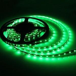 Zöld színű LED szalag, 3528 típus, 60 LED/m, 3,6 W/m, IP65 kültéri