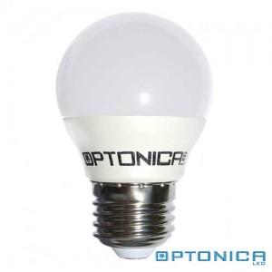 LED lámpa, égő, E27 foglalat, G45 körte forma, 6 watt, 200°,  meleg fehér - Optonica