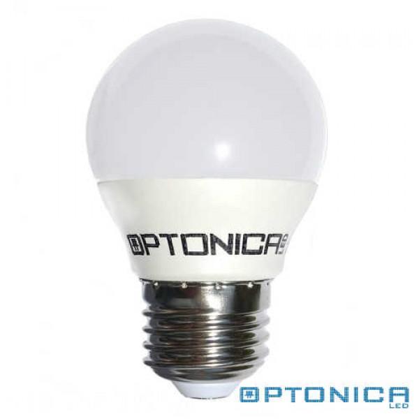LED lámpa, égő, E27 foglalat, G45 körte forma, 4 watt, 180°,  meleg fehér - Optonica