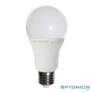 LED lámpa, égő, E27 foglalat, A60 körte forma, 5 watt, 270°,  meleg fehér - Optonica