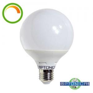 Dimmelhető LED lámpa, égő, E27 foglalat, G120 nagy gömb forma, 15watt, 270 fok, meleg fehér - Optonica