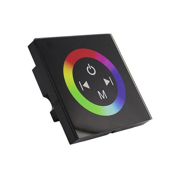 RGB dimmer , Fali , Érintős , 12V , 144W fekete