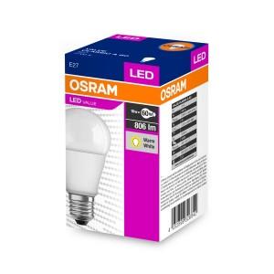 Osram LED égő CL A60 (9W/2700K) E27 806lm LED 3év garancia