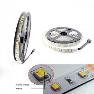 CCT változtatható fehér fényű LED szalag 5050 chip