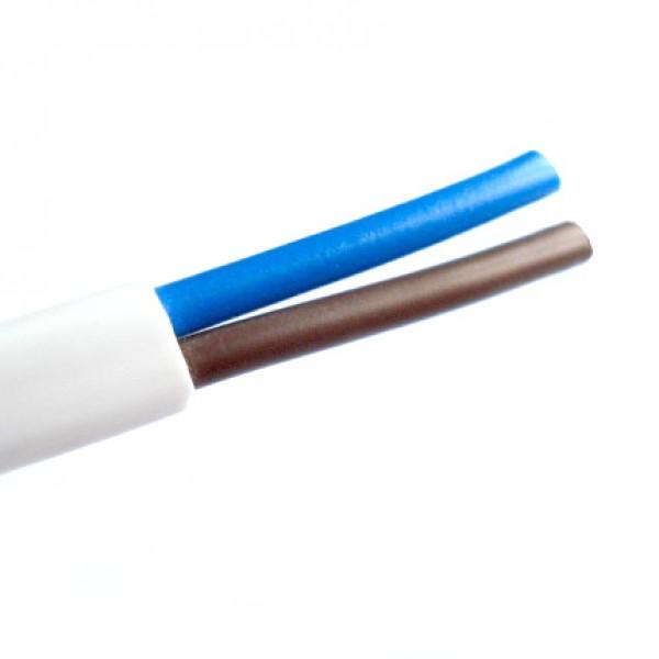 mtk 2*1mm2 kábel fehér H05VV-F