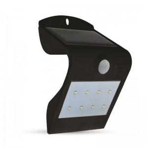 Napelemes LED lámpa 1,5 Watt mozgásérzékelővel fekete