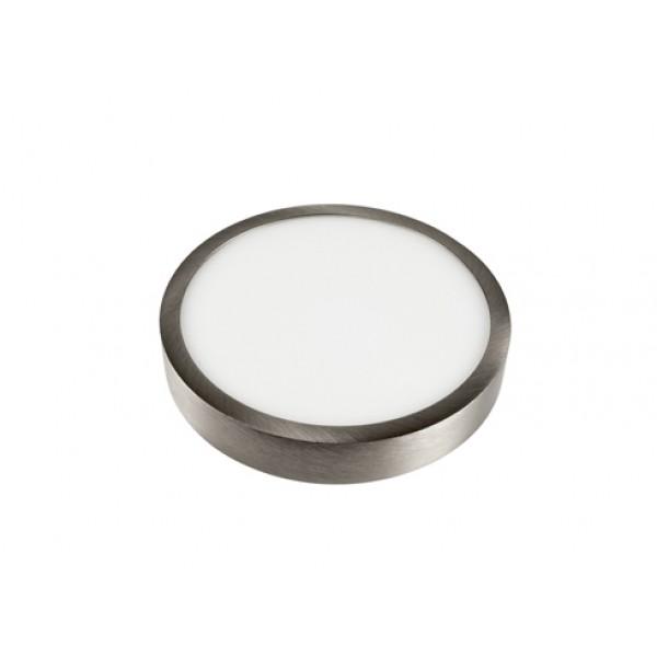 SLIM 12 Watt falon kívüli szatén nikkel LED panel kör