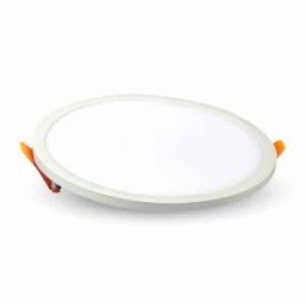 LED panel , Slim , keret nélküli , 29 W , süllyesztett , kerek , meleg fehér, VTAC
