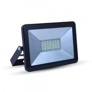 LED reflektor, SMD, Mini, fekete edzett üveg, 20 W, meleg fehér, IP65