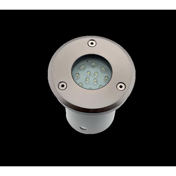 Elmark GRF9601 LED homlokzat világítás, süllyesztett, kerek, 12x1,5w