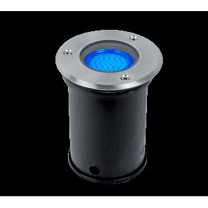 Elmark GRF10504 talajba süllyesztett LED világítás, GU5.3, MR16, 3W, 12V, kék fény