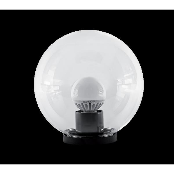 Elmark PMMA átlátszó gömb LED kerti világítás, G120-as izzóval