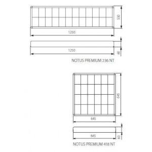 T8 Tükrös lámpatest, Notus Premium, T8, 4x60cm