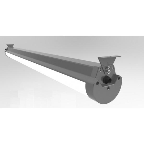 LED csarnokvilágító , 60 Watt , 150 cm , IP65 , kompakt vízzáró armatúra , állítható sugárzási szög