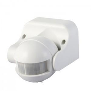 LED Infravörös mozgásérzékelő , fali , 180° , fehér